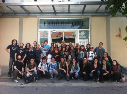 La partenza dal Fabbricone di Prato